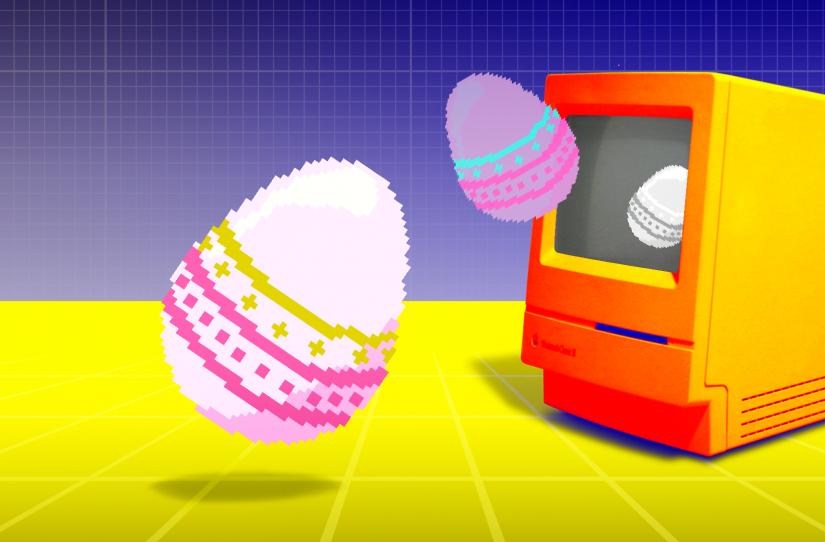 Easter eggs uit computer