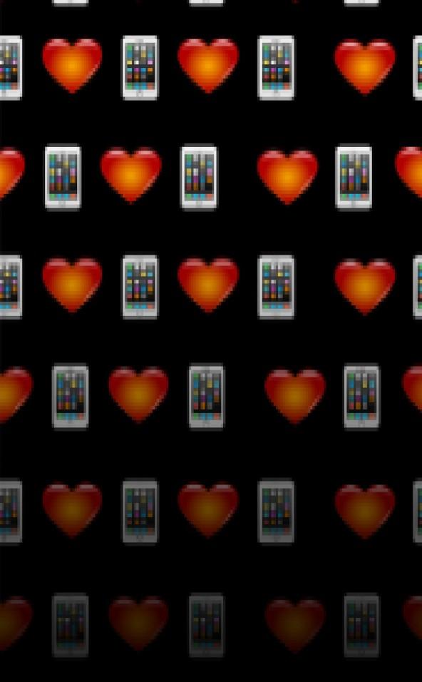 Hartjes en telefoon emoji