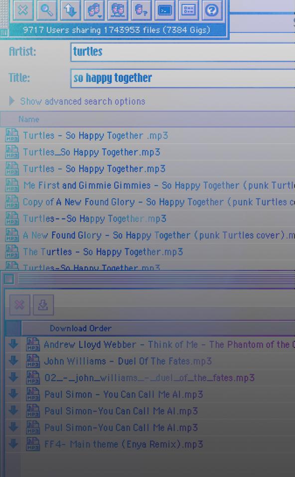Napster Screenshot vertical