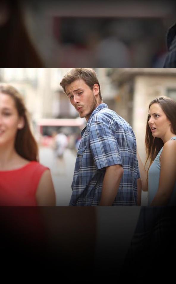 Bekende meme 'distracted boyfriend'